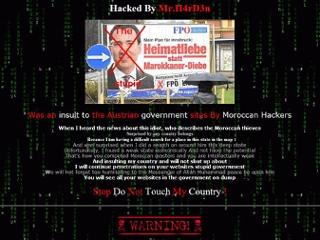 Screenshot der gehackter Scheibbser Homepage